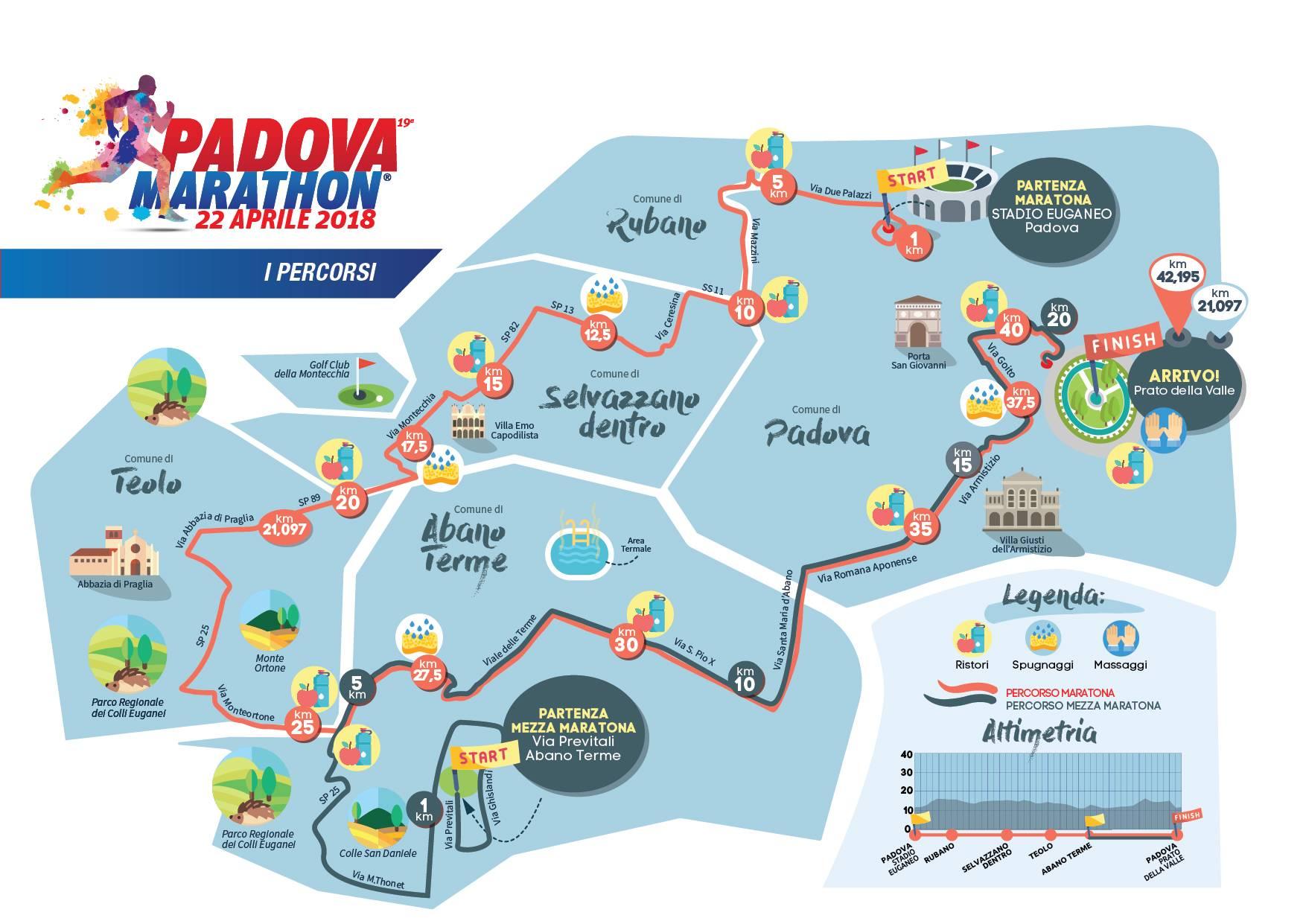 Calendario Manifestazioni Abano Terme.Padova Marathon Il 22 Aprile Il Grande Evento Convention